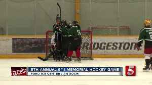 9/11 Memorial Hockey Game Held At Ford Ice Center [Video]