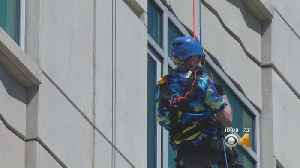 'Kind Of Tricky': 90-Year-Old Veteran Rappels Down Skyscraper [Video]