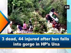 3 dead, 44 injured after bus falls into gorge in HP's Una [Video]