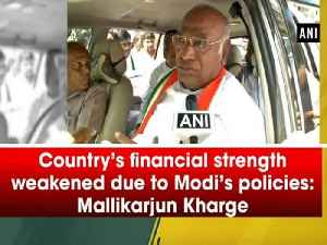 Country's financial strength weakened due to Modi's policies: Mallikarjun Kharge [Video]