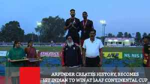 Arpinder Creates History, Becomes 1st Indian To Win At IAAF Continental Cup [Video]