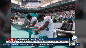Two Miami Dolphins players kneel during National Anthem [Video]