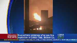 Massive Gas Line Explosion Causes Fire In Center Twp. [Video]