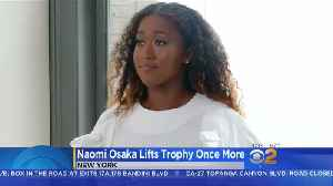 Naomi Osaka Poses With Trophy As Debate Over Controversial Calls Rage [Video]
