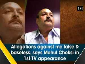 Allegations against me false & baseless, says Mehul Choksi in 1st TV appearance [Video]