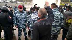 Russian police arrest protesters at rally against Putin's pension reform plan [Video]