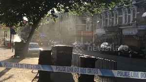 Smoke spills from car roof in south London [Video]