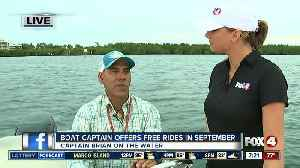 News video: Captain Brian Holaway offers free rides once a week through September