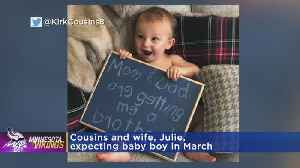 Vikings QB Cousins Is Expecting 2nd Baby [Video]