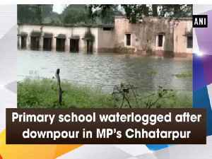 Primary school waterlogged after downpour in MP's Chhatarpur [Video]
