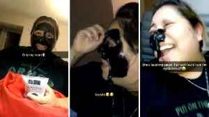 Mum accidentally rips off eyebrows in hilarious face mask fail� [Video]
