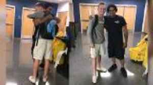 School Custodian Shocked When Student Surprises Him With New Sneakers [Video]