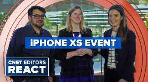 iPhone XS, XS Max, XR and Apple Watch 4: CNET editors react [Video]