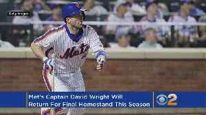 Wright To Play During Mets' Final Homestand [Video]