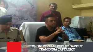 Dhoni Reveals Why He Gave Up Team India Captaincy [Video]