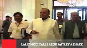News video: Lalit Modi Calls Arun Jaitley A Snake