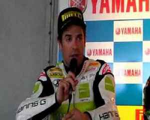 Carlos Checa after the Phillip Island Superpole [Video]