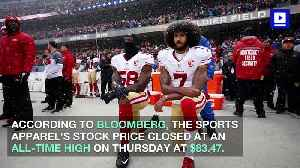 Kaepernick Ad Leads Nike's Stock to Close at an All-Time High [Video]