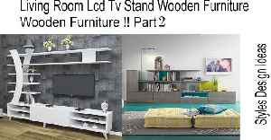 Living Room Lcd Tv Stand Wooden Furniture !! Part 2 [Video]