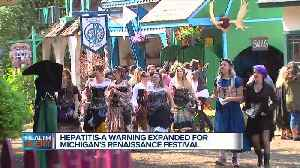 Attendee at Renaissance Festival diagnosed with Hepatitis A, vaccination urged [Video]