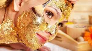 We Tried It: The *Luxurious* GOLD Face Mask Trend [Video]
