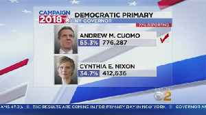 News video: Andrew Cuomo Fends Off Cynthia Nixon For Governor