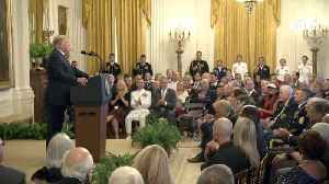President Trump's Closing Remarks At Medal Of Honor Society Reception [Video]