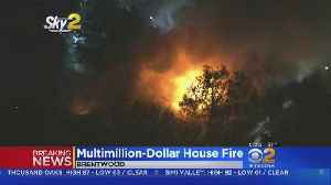 Fire Breaks Out At Multi-Million Dollar Brentwood Home [Video]