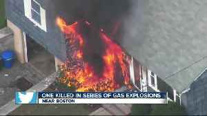 News video: At least 1 dead in series of gas explosions in Massachusetts