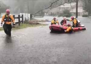 NYC's Urban Search and Rescue Team Performs Water Rescues in River Bend [Video]