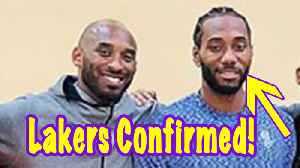 Kawhi Leonard FINALLY Smiling Standing Next To Kobe: Move To Lakers Confirmed? [Video]