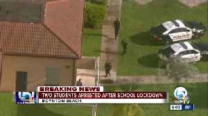 Student found with gun at Boynton Beach High School, 2 students arrested [Video]