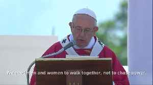 News video: 'Brothers and sisters' of the mafia, repent, Pope says in Sicily