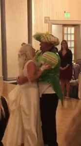 'Big Eagles Fan' Groom Sports Jason Kelce's Mummers Suit During Wedding Reception [Video]