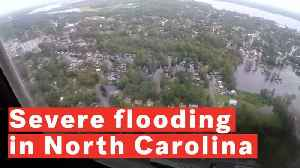 Aerial Footage Shows The Damage Caused By Hurricane Florence in North Carolina [Video]