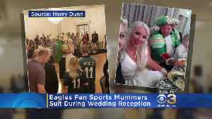 'Big Eagles Fan': Groom Sports Jason Kelce's Mummers Suit During Wedding Reception [Video]