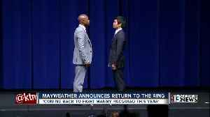 Mayweather announces fight with Pacquiao [Video]