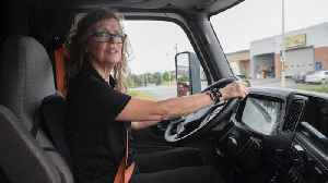 'If I can do it, you can do it:' Woman big-rig driver [Video]