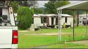 Exeter man escapes fast-moving fire; mobile home destroyed [Video]