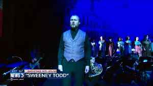 Backstage with Bruno at 'Sweeney Todd' [Video]