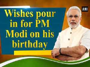 Wishes pour in for PM Modi on his birthday [Video]