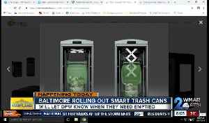 High tech 'smart trash cans' coming to Baltimore [Video]