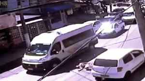 Man Jumps Onto Car In Insurance Scam [Video]