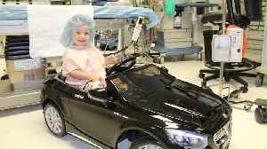 Kids at Modesto Hospital Ride to Surgery in Style Using Toy Mercedes Convertible [Video]