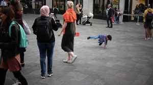 Kid Shows Off Dance Moves In Leicester Square [Video]