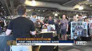 Fans stock up on hockey gear for Knights vs. Coyotes preseason opener [Video]