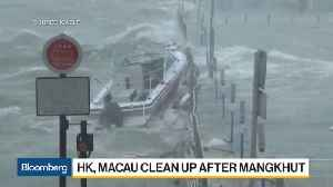 News video: Hong Kong Flights Resume as Typhoon Moves on