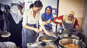 Meghan Markle Collaborates With Grenfell Tower Fire Survivors for New Cookbook [Video]