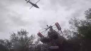 Woman Airlifted From Her Flooded Home Following Hurricane Florence [Video]
