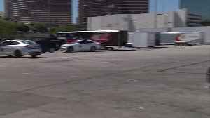 News video: NASCAR Cars Staged at the Las Vegas Convention Center